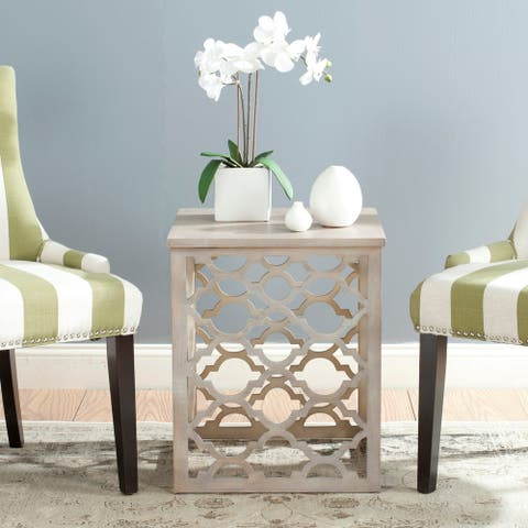 "Safavieh Lonny End Table / Grey - 18.8"" x 18.8"" x 22.5"""
