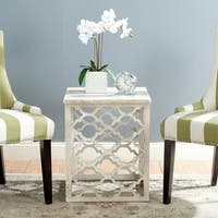 Safavieh Lonny End Table / Distressed White