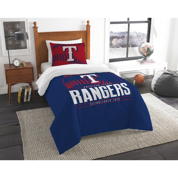 The Northwest Co MLB Texas Rangers Grandslam Twin 2-piece Comforter Set