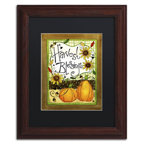 Jennifer Nilsson 'Harvest Blessings' Matted Framed Art