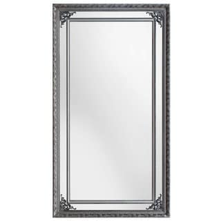 SBC Langley Antique Silver Wood Leaner Mirror