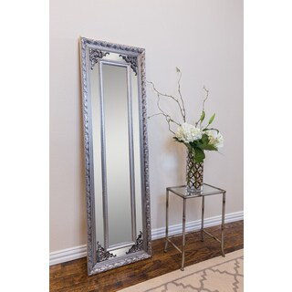 Langley Antique Silver Rectangle Full-length Wall Mirror