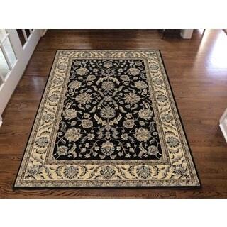 Artisan Classic Oriental Black Area Rug (7'9 x 11') - 7'9 x 11'