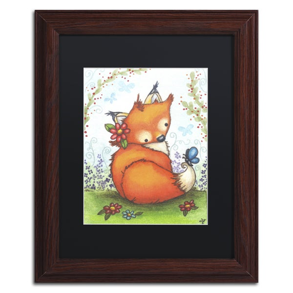 Jennifer Nilsson 'Little Fox in the Garden' Matted Framed Art