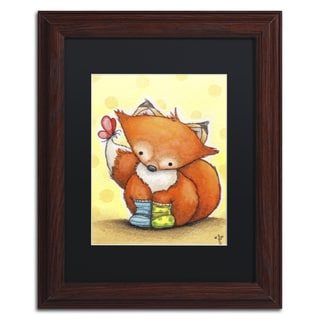 Jennifer Nilsson 'Little Fox in Socks' Matted Framed Art