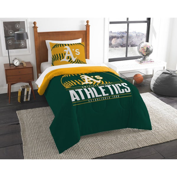 The Northwest Company MLB Oakland Athletics Grandslam Twin 2-piece Comforter Set