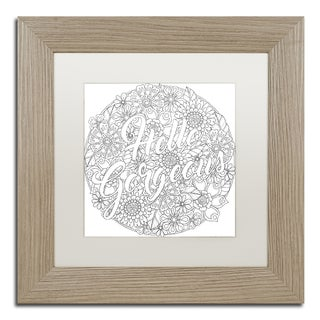 Hello Angel 'Inspirational Quotes 26' Matted Framed Art