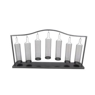 Benzara 36x19 Metal Glass Votive Holder