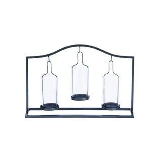 Benzara Metal/Glass Votive Holder