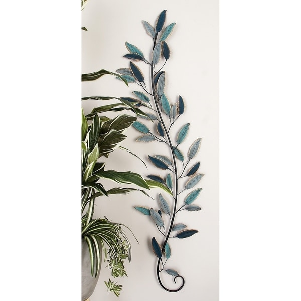 Set of 2 Natural 59 Inch Iron Leaf Wall Decor by Studio 350. Opens flyout.