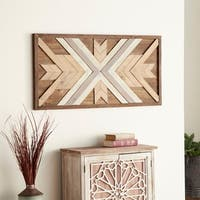 Studio 350 Wood Wall Plaque 48 inches wide, 24 inches high - Brown