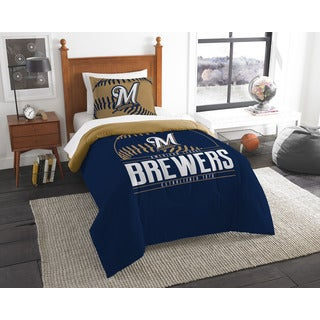 The Northwest Company MLB Milwaukee Brewers Grandslam Twin 2-piece Comforter Set