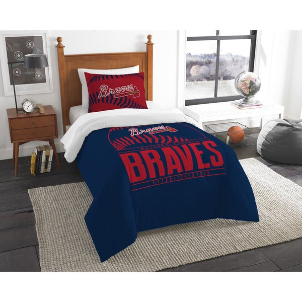 The Northwest Company MLB Atlanta Braves Grandslam Twin 2-piece Comforter Set