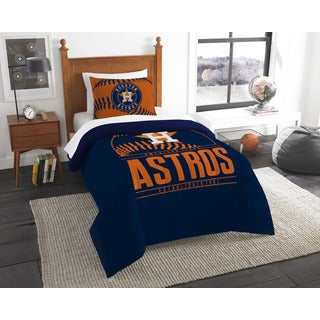 The Northwest Company MLB Houston Astros Grandslam Blue and Orange Twin 2-piece Comforter Set
