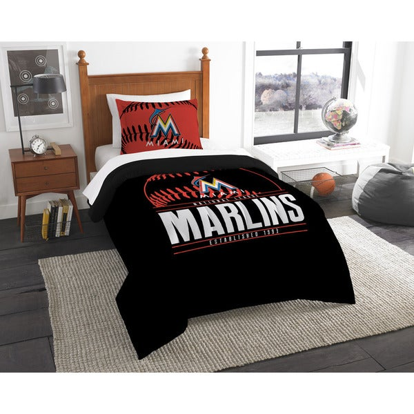 The Northwest Company MLB Miami Marlins Grandslam Twin 2-piece Comforter Set