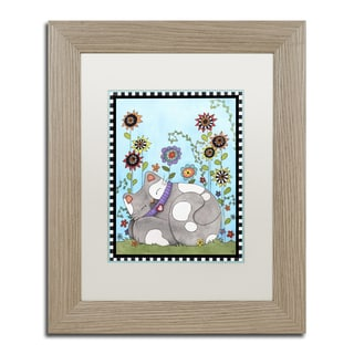 Jennifer Nilsson 'Cat Nap Garden' Matted Framed Art