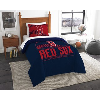 The Northwest Company Boston Red Sox Blue/Red Polyester 2-piece Twin Comforter Set