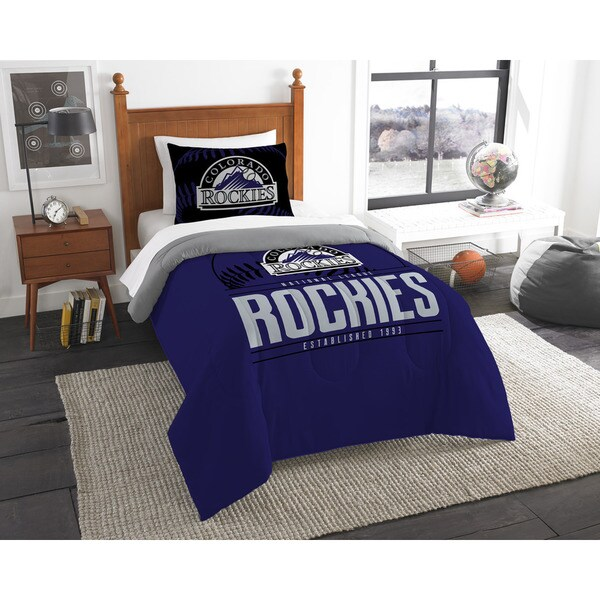 The Northwest Company MLB Colorado Rockies Grandslam Twin 2-piece Comforter Set