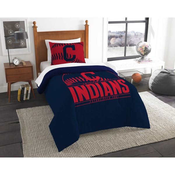 The Northwest Company MLB 86201 Indians Grandslam 2-piece Twin Comforter Set