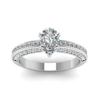 14k White Gold 1ct TDW White Diamond GIA Certified Engagement Ring (H-I, SI1-SI2)