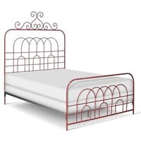 Corsican Garden Gate Vintage Red Iron Queen-size Bed