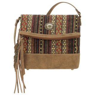 Bandana Serape Multicolored Fold-over Crossbody Bag