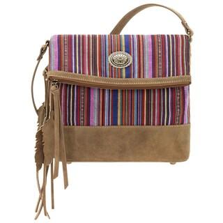 Bandana Serape Vibrant Fold-over Crossbody Bag