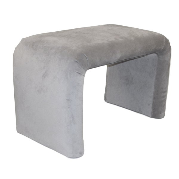 Superb Dozydotes End Of Bed Bench In Dove Microfiber Beatyapartments Chair Design Images Beatyapartmentscom