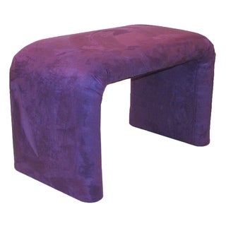 Dozydotes End of Bed Bench Purple Microfiber