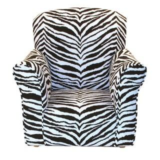 Dozydotes Toddler Rocking Chair in Zebra Print Cotton