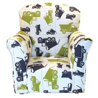 Dozydotes Toddler Rocking Chair in Dump Truck Print Cotton