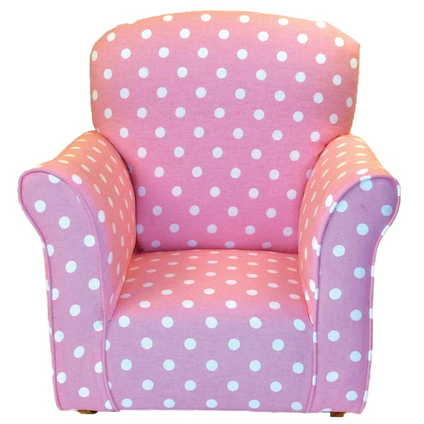 Charmant Dozydotes Toddler Rocking Chair In Baby Pink With White Polka Dot Print  Cotton