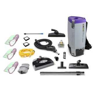 Loaded ProTeam Super Coach Pro 10 QT Commercial Backpack Vacuum Cleaner with Power Head