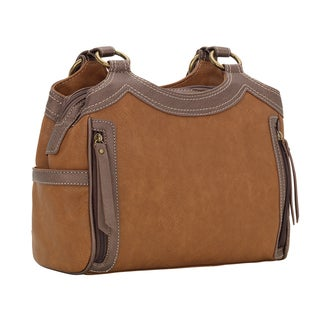Bandana Guns and Roses Soft Tan Concealed Carry Handbag