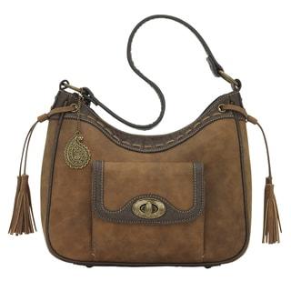 Bandana Guns and Roses Distressed Golden Concealed Carry Handbag