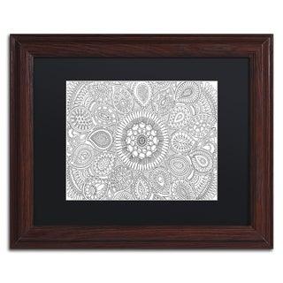 Hello Angel 'Paisley Mandala' Matted Framed Art