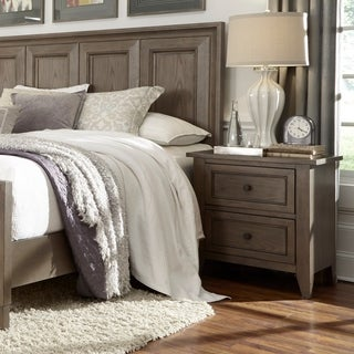 Magnussen Home Furnishings Talbot Taupe Wood/Veneer 2-drawer Nightstand