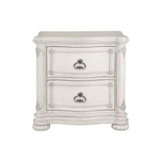 Magnussen Home Furnishings Davenport White Wood 2-drawer Nightstand