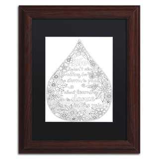 Hello Angel 'Inspirational Quotes 21' Matted Framed Art
