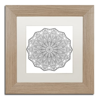 Kathy G. Ahrens 'Bubbles Mandala' Matted Framed Art
