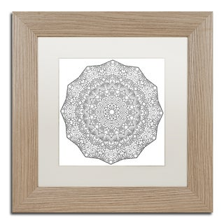 Kathy G. Ahrens 'Brilliant Mandala' Matted Framed Art