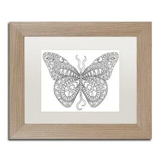 Kathy G. Ahrens 'Bashful Garden Butterfly' Matted Framed Art