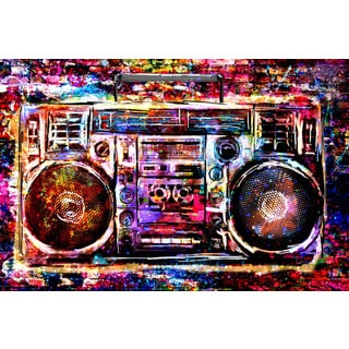 Marmont Hill - 'Boombox' by Ryan Rabbass Painting Print on Wrapped Canvas