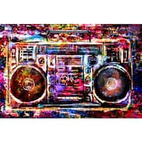 Marmont Hill 'Boombox' by Pat Spark Painting Print on Wrapped Canvas