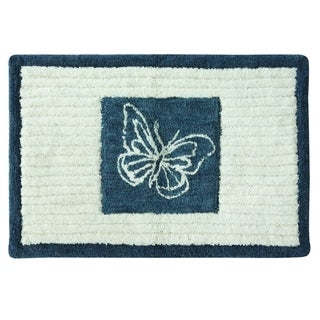 Indigo Wildflowers 20'x30' Bath Rug