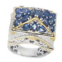One-of-a-kind Michael Valitutti Palladium Silver San Francisco Ceylon Blue Sapphire Ring