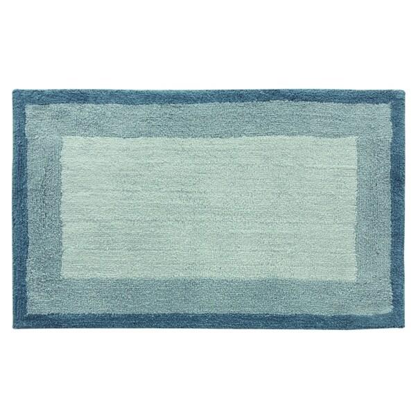 Double Frame 21'x34' Blue Bath Rug