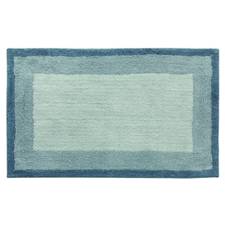 Double Frame 21'x34' Blue Bath Rug