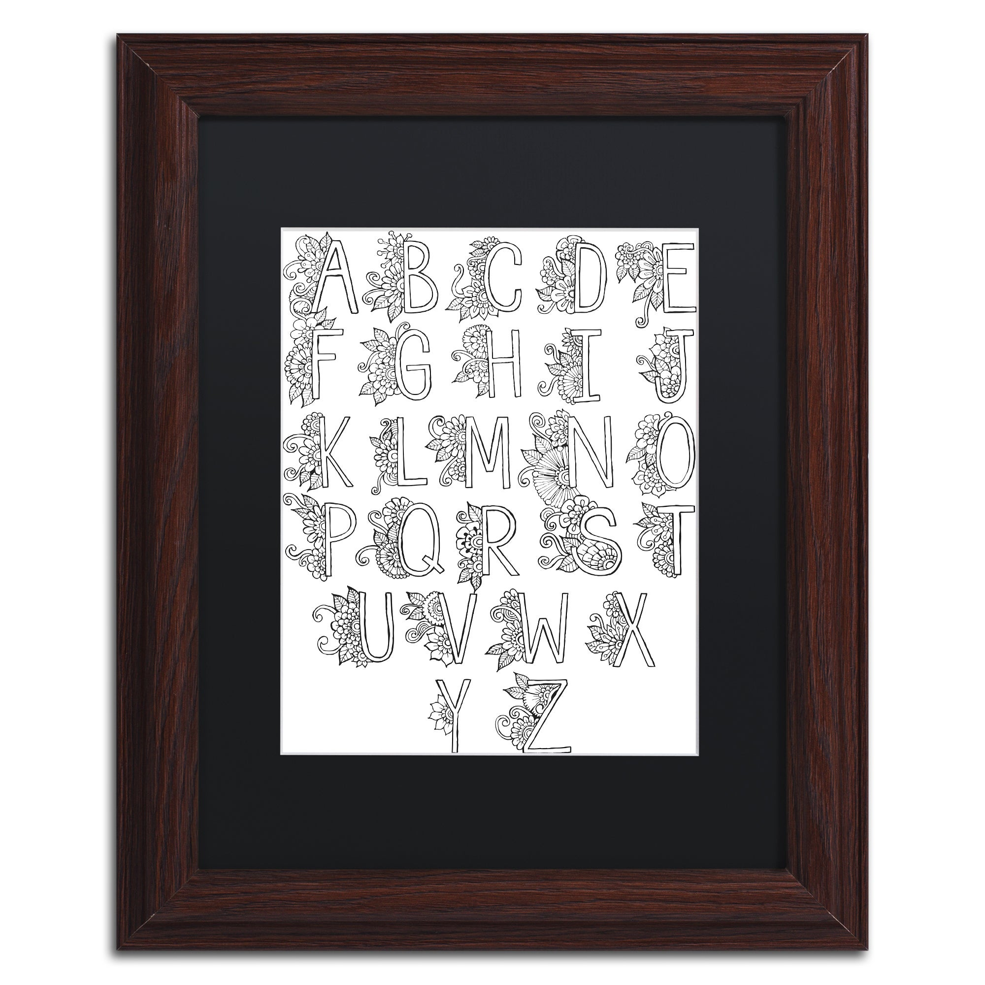 Hello Angel 'Letters & Words 1' Matted Framed Art (11x14)...