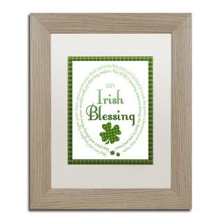 Jennifer Nilsson 'Irish Blessing 3' Matted Framed Art